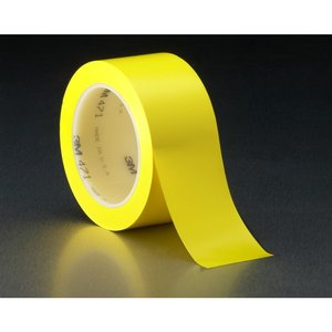 "3M 471-YELLOW-3X36YD-BULK Premium Vinyl Tape, 3"" x 108', Yellow, Bulk"