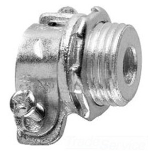 Cooper Crouse-Hinds 709 Flex Connector, Squeeze, Straight, 3/4 Inch, Malleable Iron