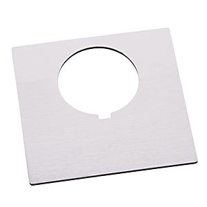 Allen-Bradley 800H-W500AE Custom Engraved Nameplate, 30MM, White, Plastic, Automotive, 800H