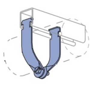 "Unistrut P1214AS-EG Rigid Strut Strap, Universal, 1-1/4"", Steel"