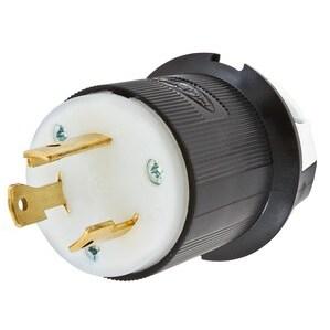 Hubbell-Kellems HBL2611 2P3W, 30A 125V, L5-30P, Black & White Nylon