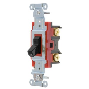 Hubbell-Wiring Kellems 1222BK SWITCH, HUBPRO, 2-POLE,