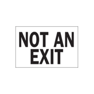 """Brady 22501 Sign, NOT AN EXIT, Not Illuminated, 7"""" x 10"""", Indoor/Outdoor"""