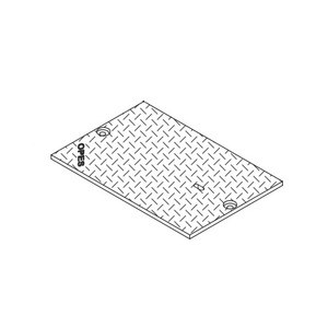 "Oldcastle Precast 2000560 Steel Checker Cover, 20"" x 13-3/8"", Bolt Down"
