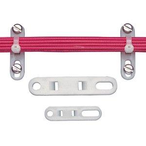"""Panduit TP4H-D Cable Tie Plate, 3.08"""", 1/4"""" (M6), Natural"""