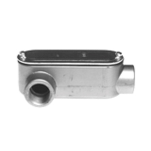 "Bridgeport Fittings LR-43CG Conduit Body With Cover/Gasket, Type: LR, Size: 1"", Aluminum"