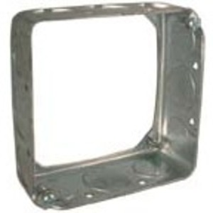 """Hubbell-Raco 204 4"""" Square Extension Ring, 1-1/2"""" Deep, Drawn, Metallic"""