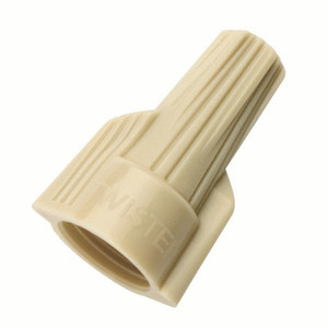 Ideal 30-341 Wire Connector, Type: Winged Twister, 22 to 8 AWG, Tan