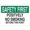 25097 NO SMOKING SIGN
