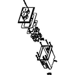 Wiremold WMFB1KS4N Floor Box Assembly, Nickel Floor Plate