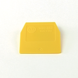Allen-Bradley 1492-EB3-Y Terminal Block, End Barrier, Yellow, for Screw Connection Blocks