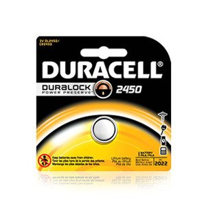 Duracell DL2450BPK Battery, 3V, 2450, Lithium, Button Cell