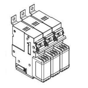 Eaton/Bussmann Series CCPB-3-100CF CCP BASE, 3 POLE, 100A CF PANEL BOARD *** Discontinued ***