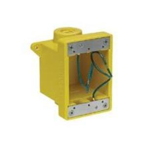 Woodhead 454CR Weatherproof Outlet Box, 1-Gang, (2) 1 Inch Hubs