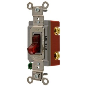 Hubbell-Wiring Kellems HBL1221ILR SP TOG, IND GRD, 20A 120/277V, IL, RD