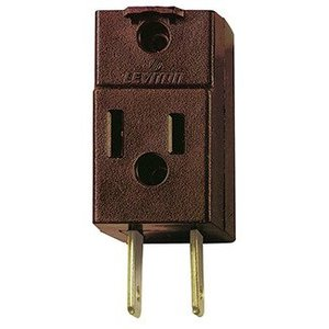 Leviton 531 3-Outlet Adapter, Brown