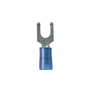 Panduit PN14-8FF-M Flanged Fork Terminal, nylon insulated,