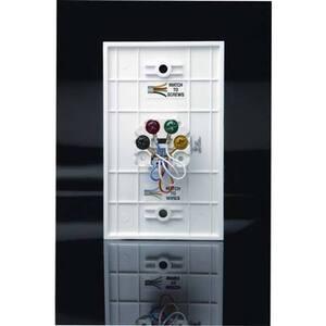 DataComm Electronics 22-0011 Telephone Wall Jack, 6P4C, 1-Gang, Standard Size, Ivory