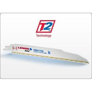 "Lenox 21072624GR Reciprocating Saw Blade, Tuff Tooth, 24 TPI, Length: 6"", Bi-Metal"