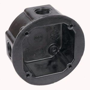 Thomas & Betts AO4-34 Round Box W/four Ko,phenolic