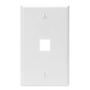 410801WP FACEPLATE 1 PORT WHITE