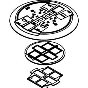 "Wiremold RC4CTCBK Poke-Thru Assembly, 8-1/4"" Diameter, Non-Metallic"
