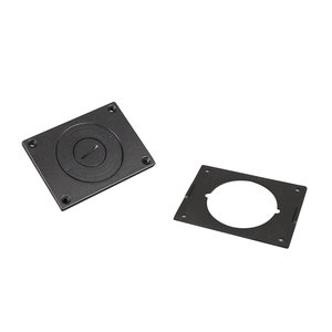 Wiremold 829CKAL-3/4BK Cover Plate, Black