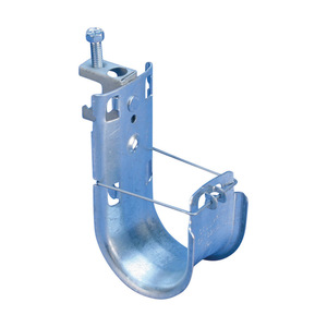 """nVent Caddy CAT32HPBC Cable Support Clip, Wide Base, 2"""", Flange: 1/8 to 1/2"""", Steel"""