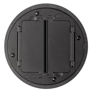 Hubbell-Kellems S1TFCBL Universal Tile Flange and Cover Assembly