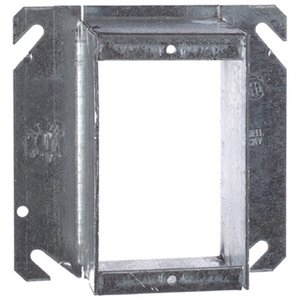 "Steel City 72-C-51-2 4-11/16"" Square Cover, 1-Device, Tile Ring, 2"" Raised, Drawn"