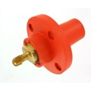 Leviton 17R22-O Female, Panel Receptacle, 90 Deg., 250-750 MCM, Threaded Stud, Cam-Type, Orange