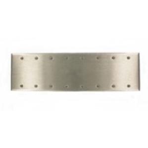 Leviton 84068-40 8-Gang Blank Wallplate, Standard Size, Box Mount, Stainless Steel