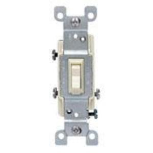 Leviton 1453-2T 3-Way Toggle Switch, 15A, 120VAC, Light Almond, Residential Grade