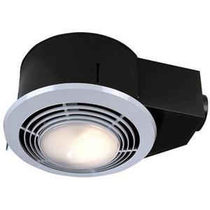 Nutone QT9093WH Bathroom Exhaust Fan, 110 CFM, Heat, Light