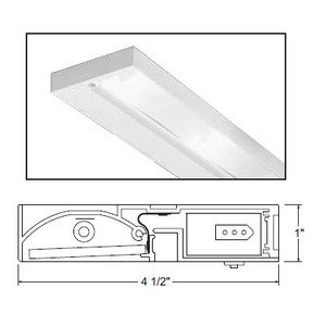 "Juno Lighting ULH214-WH Undercabinet Light, Halogen, 2-Light, 14"", 20W, 12V"