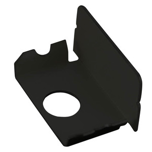 Wiremold BK2010B Blank End Fitting, Plugmold 2000 Series, Steel, Black