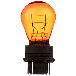 Candela 3157NA-I Miniature, S8, 26.8 Watt, 12.8 Volt, Amber, Wedge Base