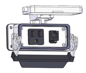 Mencom DP1-RJ45-16LS SIMPLX; RJ 8 WIRE; SZ16