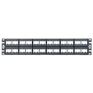 Panduit CPP48WBLY Patch Panel, 48-Port, Black, Stainless Steel