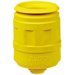 Leviton 6033-Y Boot, for 4/5 Wire 20/30A Locking Plug, Yellow