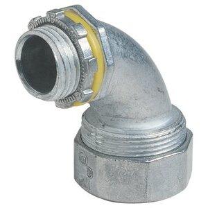 """Thomas & Betts LT-292 Liquidtight Connector, 90°, 3/4"""", Zinc"""