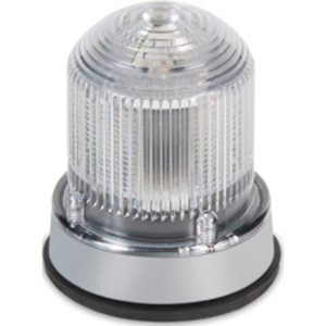 Edwards 125XBRIRGA24D Multi-Status Indicator Beacon, LED, Gray Base, 24VDC, Red/Green/Amber