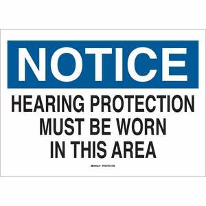 25490 EAR PROTECTION SIGN
