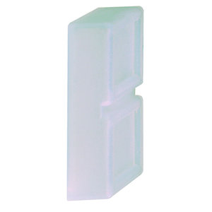 Square D ZB2SZ4 Blanking Plug, Insulated Material, Gray