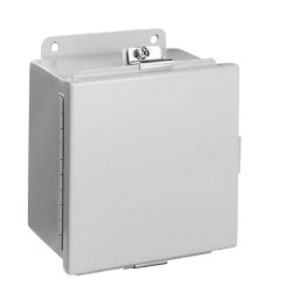 "Hubbell-Wiegmann BN4121005CH Junction Box, NEMA 4, Continuous Hinge, 12"" x 10"" x 5"", Steel"