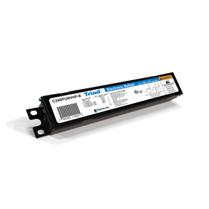 Candela C240PUNVHP-B Electronic Ballast, Compact Fluorescent, 2-Lamp, 40W, 120-277V