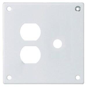 Hubbell-Wiring Kellems SWP812 HUB SWP812 SEC WALLPLATE, 2-G,