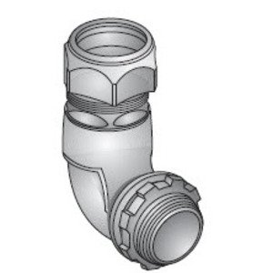 "Appleton TWL-50 EMT Compression Gland Connector, 90°, 1/2"", Zinc Die Cast"