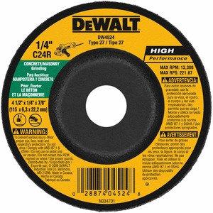 DEWALT DW4524 4-1/2 X 1/4 X 7/8in Masonry Grinding Wheel