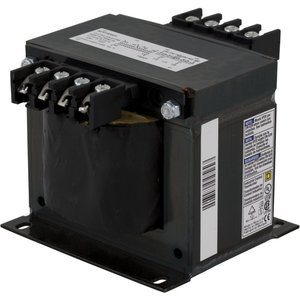 Square D 9070T500D4 Control Transformer, 500VA, 277 - 120, Type T, 1PH, Open